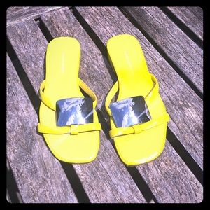 Banana Republic Yellow Slides